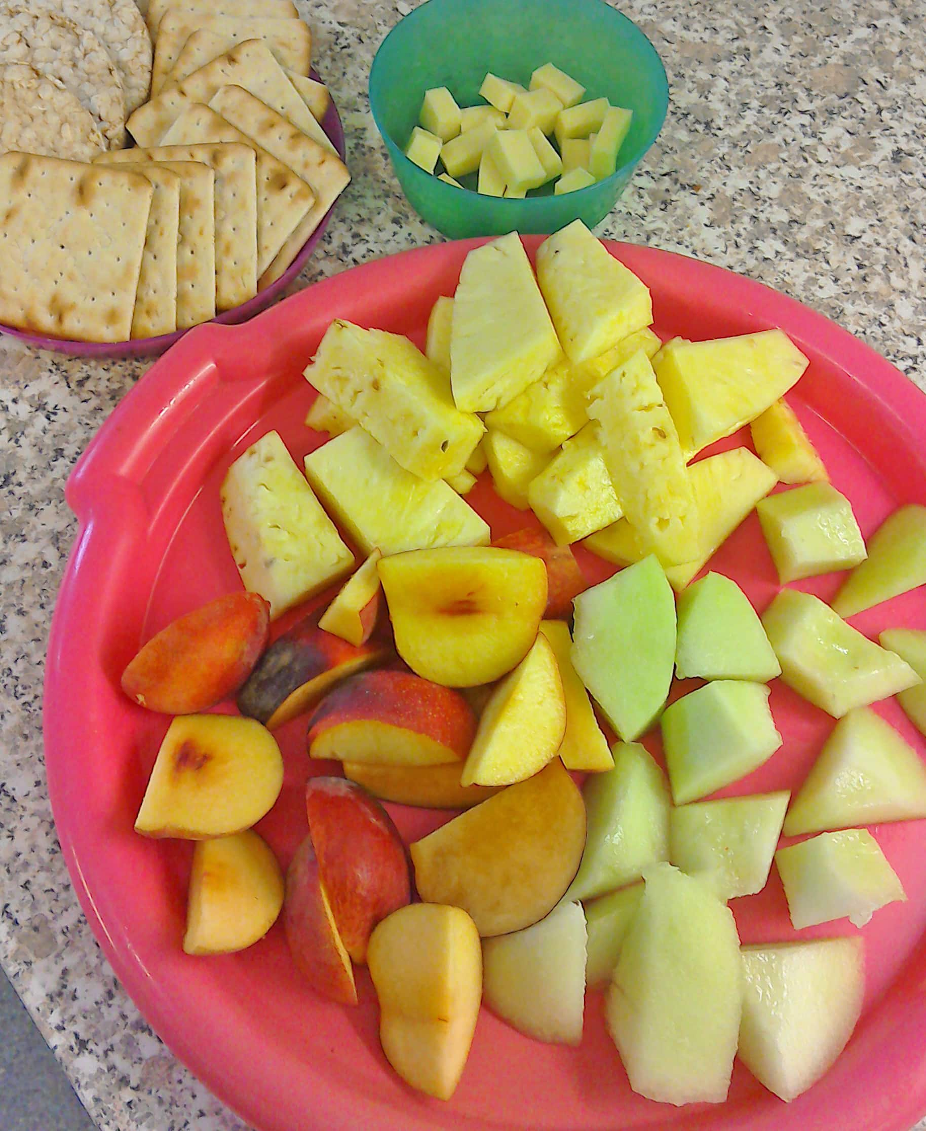 Fruit, Biscuits and Cheese